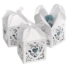 These square favor boxes are beautiful way to show your guests some love. The lovely heart design makes these wedding favor boxes the perfect addition to your big day. Wedding Favor Boxes, Wedding Party Favors, Bridal Shower Favors, Wedding Gifts, Wedding Decorations, Wedding Ideas, Wedding Reception, Disney Wedding Favors, Wedding Planning