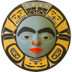 Chilkat Moon Mask by Glen Rabena Drum Patterns, Native American Artwork, Inuit Art, Tlingit, Aboriginal Art, People Art, Native Art, North Coast, West Coast