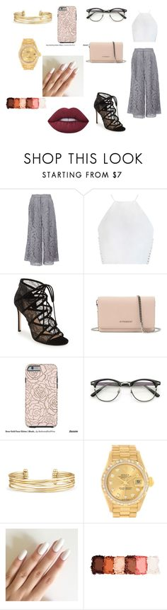 """Lace-Coolats"" by colorfulnay on Polyvore featuring ADAM, Zimmermann, Pour La Victoire, Givenchy, Stella & Dot, Rolex, NYX and Lime Crime"