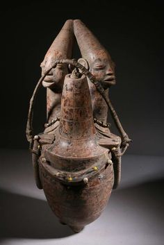 Africa| Terracotta vessel from the Mangbetu people of the DR Congo.