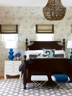 Traditional meets modern in this charming bedroom