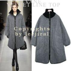 Convertible Collar Zip-Up Coat