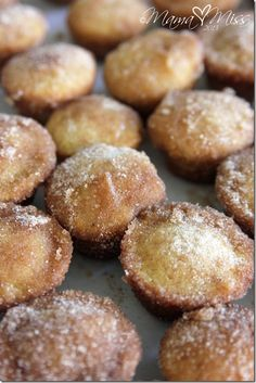 Cinnamon Sugar Mini Doughnut Hole Muffins - With the addition of nutmeg in these yummy, cinnamon-sugar-coated bites make them beyond delectable. @mamamissblog #glutenfree