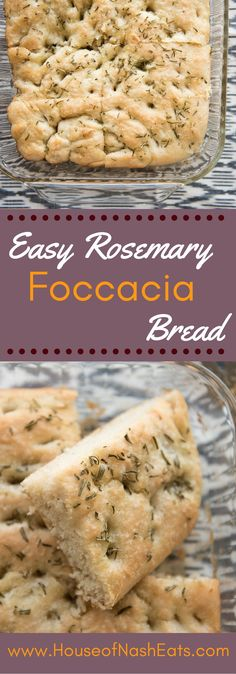This easy rosemary foccacia bread is so simple to make and ready in under an hour, so you can have fresh, warm bread with dinner tonight!