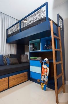 Bunk Bed with Desk: 60 Creative Ideas to Save Space - Home Fashion Trend