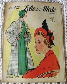 French Vintage 40's Fashion Magazine