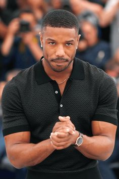 """Michael B. Jordan at the Cannes Film Festival Fine Black Men, Gorgeous Black Men, Handsome Black Men, Black Boys, Fine Men, Beautiful Men, Hot Black Guys, Black Man, Cannes Film Festival"