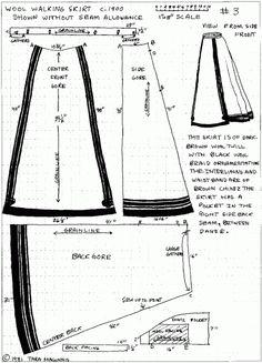 Skirt Pattern Free, Skirt Patterns Sewing, Costume Patterns, Vintage Sewing Patterns, Clothing Patterns, Circle Pattern, Edwardian Clothing, Edwardian Fashion, Historical Clothing