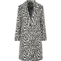 Maje Leopard-print brushed-felt coat ($630) ❤ liked on Polyvore featuring outerwear, coats, leopard print, felt coat, leopard print coat, maje coat, leopard coat and evening coat