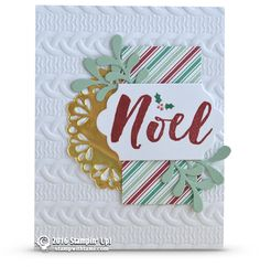 CARD: Noel Holiday card idea from the Christmas Pines set | Stampin Up Tami…