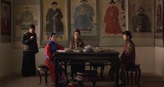 Still from the movie 'Raise the Red Lantern' by Zhang Yimou. Chinese 1920s style