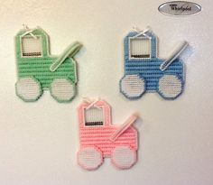 15% OFF SALE ON ALL ITEMS! coupon code SILLY15 at checkout. Needlepoint Picture Frame Magnet Baby Carriage by Sillysockmonkeys, $6.00