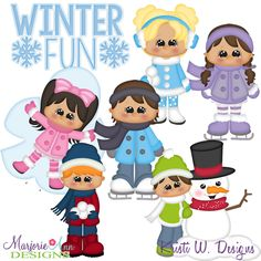 Winter Fun Kids SVG-MTC-PNG plus JPG Cut Out Sheet(s) Our sets also include clipart in these formats: PNG & JPG