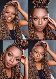 Trendy and cute box braids protective hairstyle ideas you've gotta try at your next hair appointment. Burgundy Box Braids, Red Box Braids, Blonde Box Braids, Braids With Beads, Box Braids Styling, Chunky Box Braids, Large Box Braids, Jumbo Box Braids, Cute Box Braids Hairstyles
