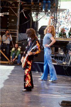 Led Zeppelin Oakland Coliseum, Oakland, CA, July 1977..