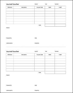 Printable General Journal Template