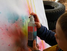 Painting with pump squirt bottles :)