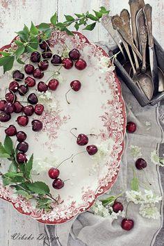 Lovely old platter, creatively adorned