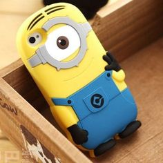 Cute Cartoon 3d Despicable Me 2 Minion Soft Silicone Case Cover for iPhone 4 4g 4s 5 5s 5c
