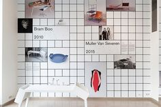It's Nice That | Ines Cox designs grid-heavy exhibition identity for Brussels gallery Design Vlaaderen