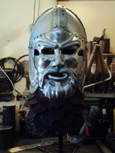 Face Helm by TimeTurbine on deviantART. Beautiful work!