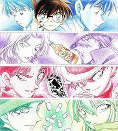 Ran - Shinichi Vermouth - Gin Heiji - Kid Shuichi - Ai Detective Conan ❤️