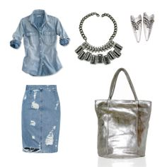 necklace, earrings and silver bag www.myla.es