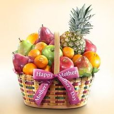 Deluxe Mothers Day Fabulous Fruit Basket