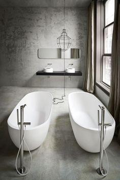 Duo de baignoires îlot