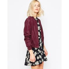 Shop Brave Soul Bomber Jacket at ASOS. Burgundy Bomber Jacket, Line Jackets, Bomber Jackets, Outerwear Jackets, Casual Outfits, Cute Outfits, Latest Outfits, Latest Clothes, Fall Winter Outfits