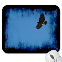 Red Tailed Hawk in Flight Mouse Pad #gift #photogift #zazzle