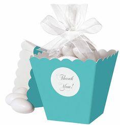 Tiffany Blue Popcorn Box Favor Kit $19.99