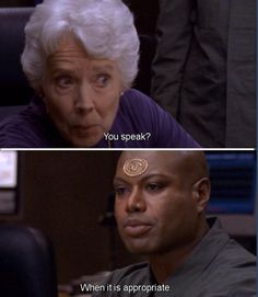 Some people need to take some lessons from Teal'c.