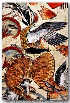 Murals from the tomb of Nebamun, British Museum, London.