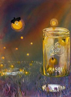 Who else spent their summers catching lightning bugs in Mason Jars with holes punched in the lid?