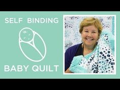 Jenny Doan of Missouri Star Quilt Company remade her original self-binding baby blanket tutorial- and this time she used Cuddle® and Embrace® double gauze. Self Binding Baby Blanket, Baby Blanket Tutorial, Easy Baby Blanket, Baby Blankets, Minky Blanket, Receiving Blankets, Fleece Blankets, Msqc Tutorials, Quilting Tutorials