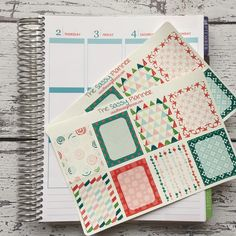 NEW! June Monthly Write-On Full Box Stickers for Erin Condren Life Planner/Plum Paper Planner - Set of 16