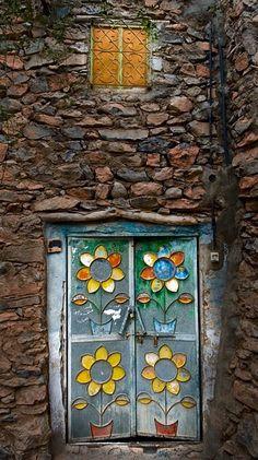 Door in Al Hamra, Oman