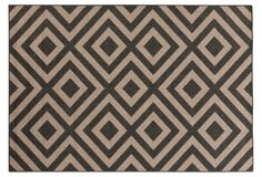 Providence Outdoor Rug, Black/Beige