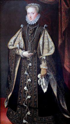 Alonso Sanchez Coello. From 1531 to 1588. Anne of Austria, Queen of Spain (1549-1580) Vienna. Kunsthistorisches Museum
