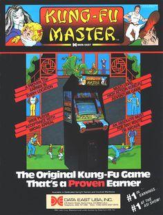 Kung-Fu Master Arcade Game Ad (Data East 1984)