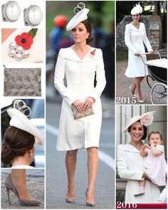 """The Duchess opted for her beautiful Alexander McQueen coat-dress for this evening's events. You…"""""""
