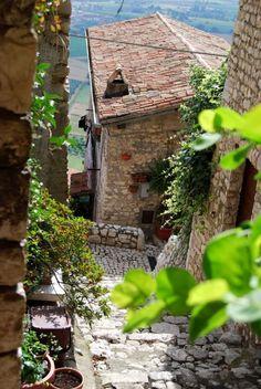Sermoneta, Italy - steep streets, breathtaking views visited 2005