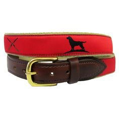 """The Essentials"" Ribbon Belt - Red"