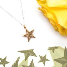 Gold Nautical Star Tattoo Pendant