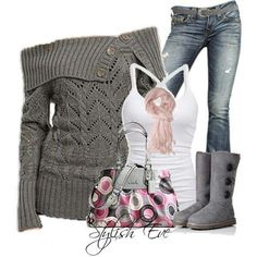 Love this winter outfit!!