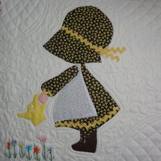 ~ free template ~ for the vintage Holly Hobbie quilt block posted by Laura at See How We Sew