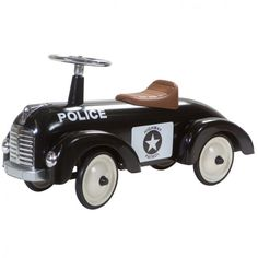 Toddler Ride On Car Vehicle Christmas Xmass Gift Push Child Retro Police Black #ToddlerRideOnCar