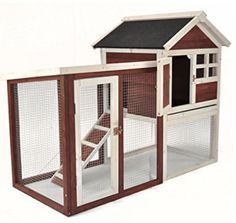 Wooden Rabbit Hutch Pet Cage Wood House Small Animal Bunny Chicken Coop w Ladder Portable Chicken Coop, Best Chicken Coop, Building A Chicken Coop, Rabbit Life, House Rabbit, Hen House, Farm House, Rabbit Cages, Rabbit Playpen