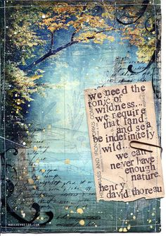"Day 8 - paper print  11""x14"" Henry David Thoreau nature quote 30x30 project"